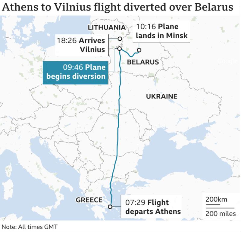 Белорусский самолет: Инцидент в Минске